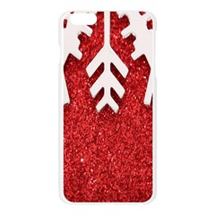 Macro Photo Of Snowflake On Red Glittery Paper Apple Seamless iPhone 6 Plus/6S Plus Case (Transparent)