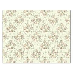Seamless Floral Pattern Rectangular Jigsaw Puzzl