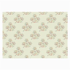 Seamless Floral Pattern Large Glasses Cloth (2-Side)