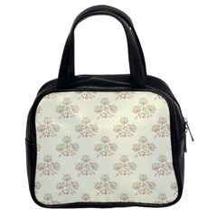 Seamless Floral Pattern Classic Handbags (2 Sides)