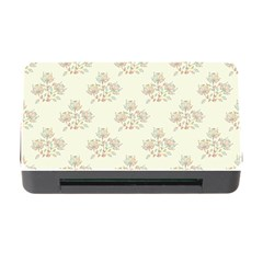Seamless Floral Pattern Memory Card Reader with CF
