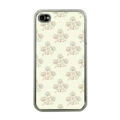 Seamless Floral Pattern Apple iPhone 4 Case (Clear)