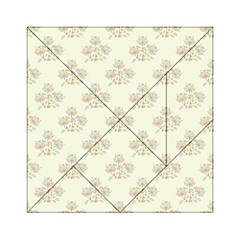 Seamless Floral Pattern Acrylic Tangram Puzzle (6  x 6 )