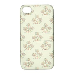 Seamless Floral Pattern Apple iPhone 4/4S Hardshell Case with Stand