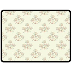 Seamless Floral Pattern Double Sided Fleece Blanket (Large)