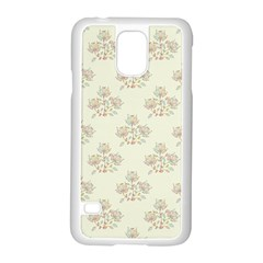 Seamless Floral Pattern Samsung Galaxy S5 Case (White)