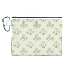 Seamless Floral Pattern Canvas Cosmetic Bag (L)