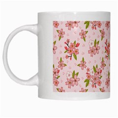 Beautiful hand drawn flowers pattern White Mugs