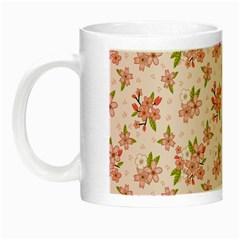 Beautiful hand drawn flowers pattern Night Luminous Mugs