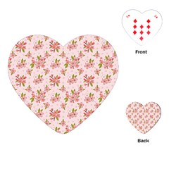 Beautiful hand drawn flowers pattern Playing Cards (Heart)