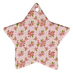Beautiful hand drawn flowers pattern Star Ornament (Two Sides)