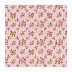 Beautiful hand drawn flowers pattern Medium Glasses Cloth (2-Side)