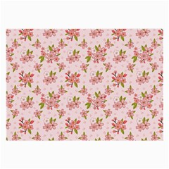 Beautiful hand drawn flowers pattern Large Glasses Cloth (2-Side)