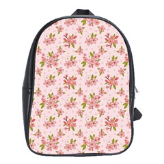 Beautiful hand drawn flowers pattern School Bags(Large)