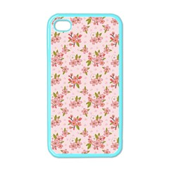 Beautiful hand drawn flowers pattern Apple iPhone 4 Case (Color)