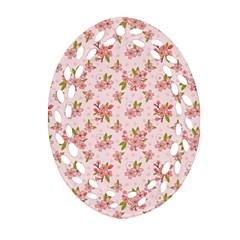 Beautiful hand drawn flowers pattern Ornament (Oval Filigree)