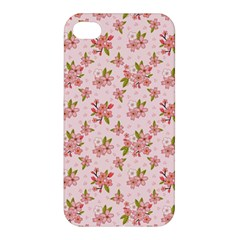 Beautiful hand drawn flowers pattern Apple iPhone 4/4S Hardshell Case