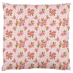 Beautiful hand drawn flowers pattern Large Cushion Case (Two Sides)