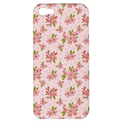 Beautiful hand drawn flowers pattern Apple iPhone 5 Hardshell Case
