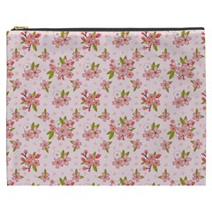 Beautiful hand drawn flowers pattern Cosmetic Bag (XXXL)