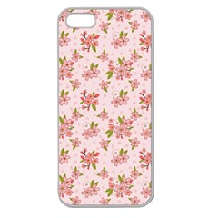Beautiful hand drawn flowers pattern Apple Seamless iPhone 5 Case (Clear)