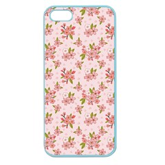 Beautiful hand drawn flowers pattern Apple Seamless iPhone 5 Case (Color)