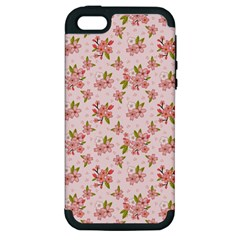 Beautiful hand drawn flowers pattern Apple iPhone 5 Hardshell Case (PC+Silicone)