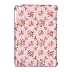 Beautiful hand drawn flowers pattern Apple iPad Mini Hardshell Case (Compatible with Smart Cover)