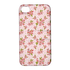 Beautiful hand drawn flowers pattern Apple iPhone 4/4S Hardshell Case with Stand