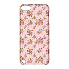 Beautiful hand drawn flowers pattern Apple iPod Touch 5 Hardshell Case with Stand