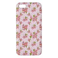 Beautiful hand drawn flowers pattern Apple iPhone 5 Premium Hardshell Case