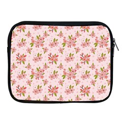 Beautiful hand drawn flowers pattern Apple iPad 2/3/4 Zipper Cases