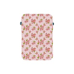 Beautiful hand drawn flowers pattern Apple iPad Mini Protective Soft Cases