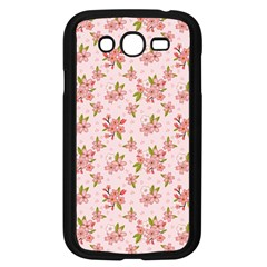 Beautiful hand drawn flowers pattern Samsung Galaxy Grand DUOS I9082 Case (Black)