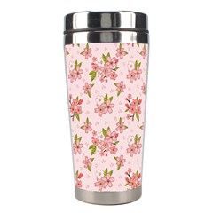Beautiful hand drawn flowers pattern Stainless Steel Travel Tumblers