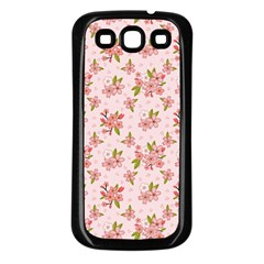 Beautiful hand drawn flowers pattern Samsung Galaxy S3 Back Case (Black)