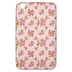 Beautiful hand drawn flowers pattern Samsung Galaxy Tab 3 (8 ) T3100 Hardshell Case