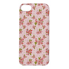 Beautiful hand drawn flowers pattern Apple iPhone 5S/ SE Hardshell Case