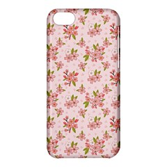 Beautiful hand drawn flowers pattern Apple iPhone 5C Hardshell Case