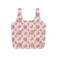 Beautiful hand drawn flowers pattern Full Print Recycle Bags (S)