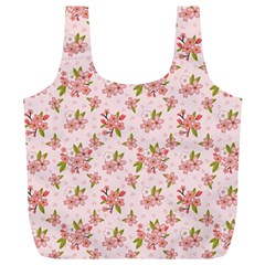 Beautiful hand drawn flowers pattern Full Print Recycle Bags (L)