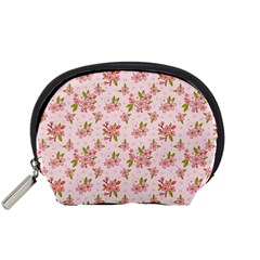 Beautiful hand drawn flowers pattern Accessory Pouches (Small)
