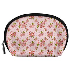 Beautiful hand drawn flowers pattern Accessory Pouches (Large)