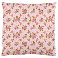 Beautiful hand drawn flowers pattern Large Flano Cushion Case (One Side)