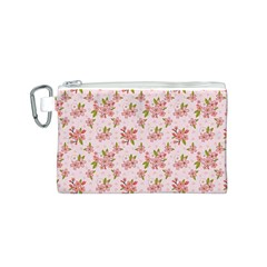 Beautiful hand drawn flowers pattern Canvas Cosmetic Bag (S)
