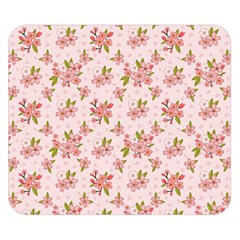 Beautiful hand drawn flowers pattern Double Sided Flano Blanket (Small)