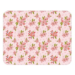 Beautiful hand drawn flowers pattern Double Sided Flano Blanket (Large)