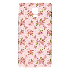 Beautiful hand drawn flowers pattern Galaxy Note 4 Back Case