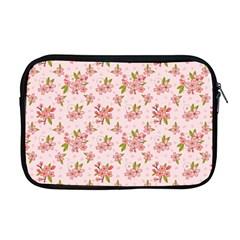 Beautiful hand drawn flowers pattern Apple MacBook Pro 17  Zipper Case