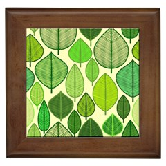 Leaves pattern design Framed Tiles